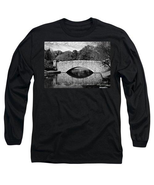 Freedom Park Bridge In Black And White Long Sleeve T-Shirt