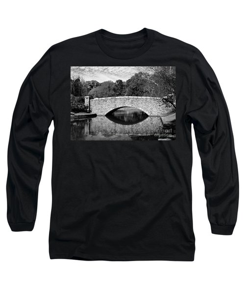Freedom Park Bridge In Black And White Long Sleeve T-Shirt