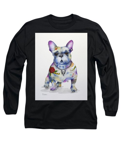 French Bulldog Ozzie Long Sleeve T-Shirt by Patricia Lintner