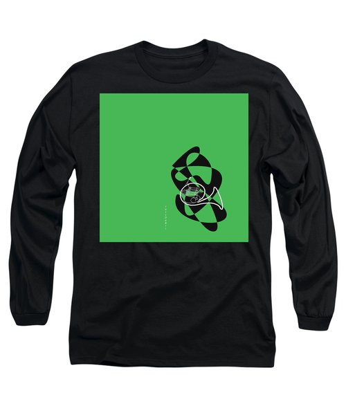 French Horn In Green Long Sleeve T-Shirt