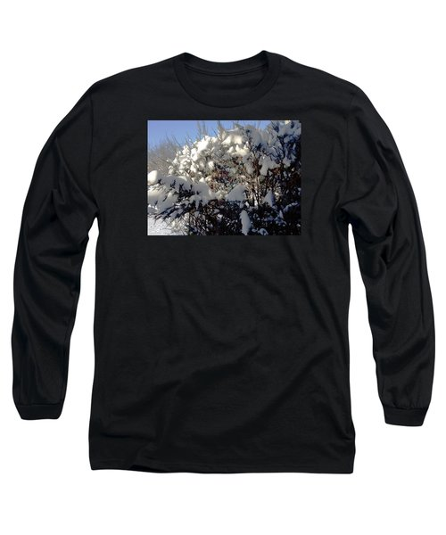 Long Sleeve T-Shirt featuring the photograph Fresc Snow by Vicky Tarcau