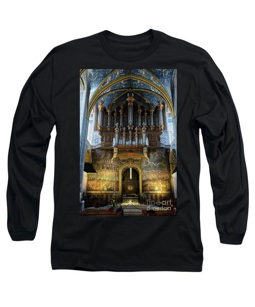 Fresco Of The Last Judgement And Organ In Albi Cathedral Long Sleeve T-Shirt by RicardMN Photography