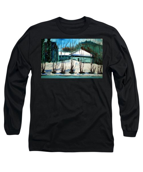 Long Sleeve T-Shirt featuring the painting Fresh Snow Double Matted by Charlie Spear