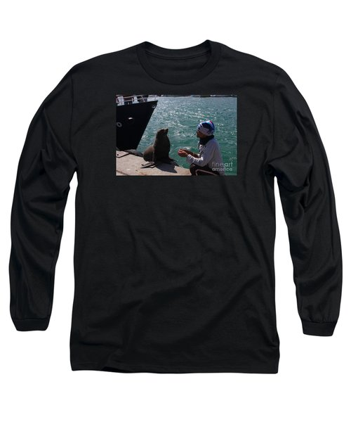 Friendly Seal Long Sleeve T-Shirt by Bev Conover