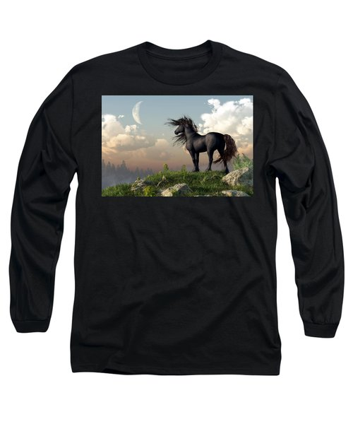 Friesian Moon Long Sleeve T-Shirt
