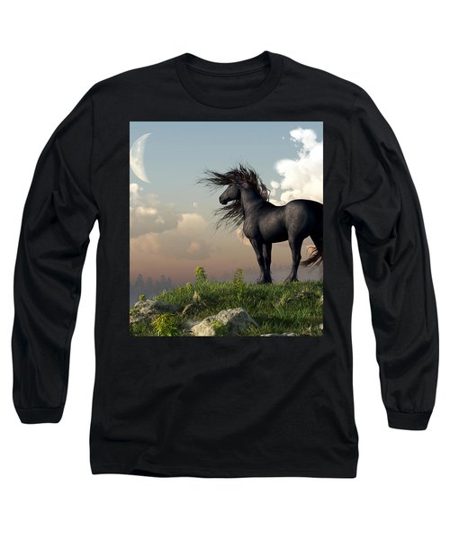 Friesian Moon Long Sleeve T-Shirt