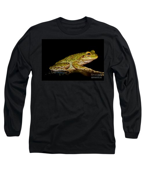 Long Sleeve T-Shirt featuring the photograph Cuban Tree Frog by Olga Hamilton