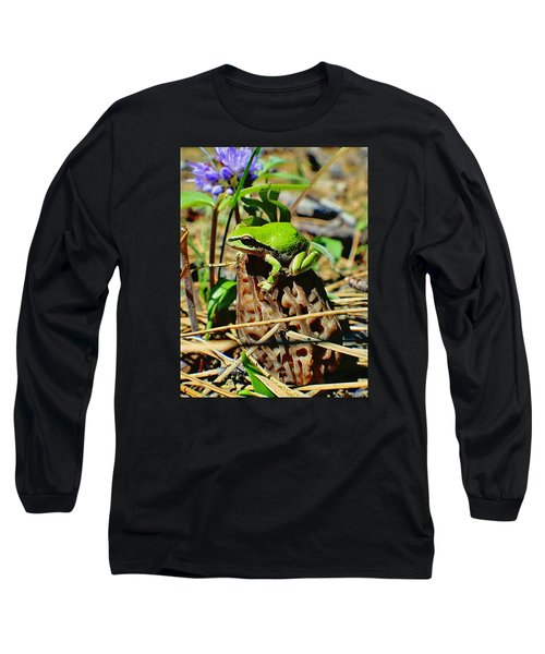Frog On A Morel Long Sleeve T-Shirt