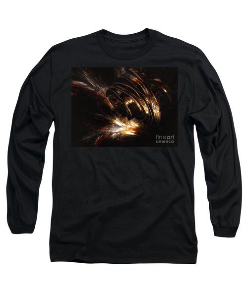 Long Sleeve T-Shirt featuring the digital art From The Beyond by Isabella F Abbie Shores FRSA
