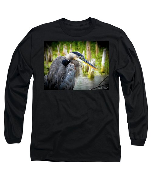 From The Series Great Blue Number 2 Long Sleeve T-Shirt