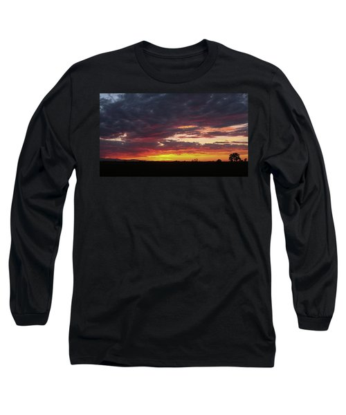 Front Range Sunset Long Sleeve T-Shirt by Monte Stevens