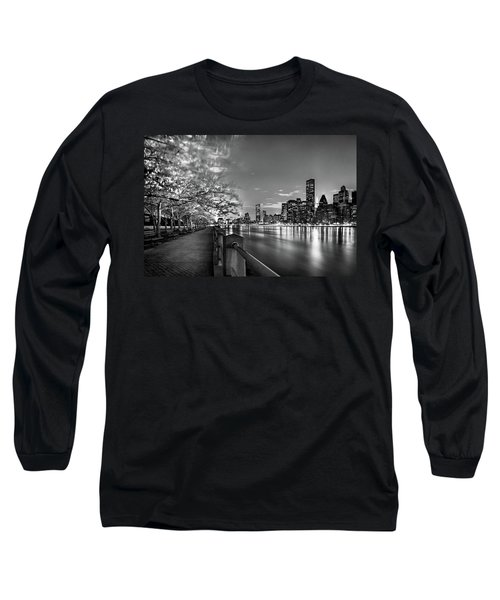 Long Sleeve T-Shirt featuring the photograph Front Row Roosevelt Island by Az Jackson