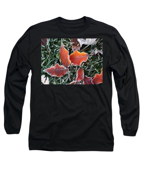 Frosted Leaves Long Sleeve T-Shirt by Shari Jardina