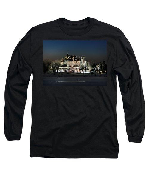 Frozen Boldt Castle Long Sleeve T-Shirt by Lori Deiter