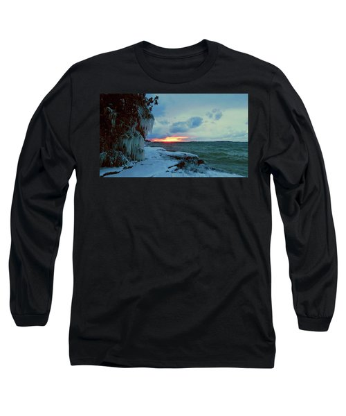 Frozen Sunset In Cape Vincent Long Sleeve T-Shirt