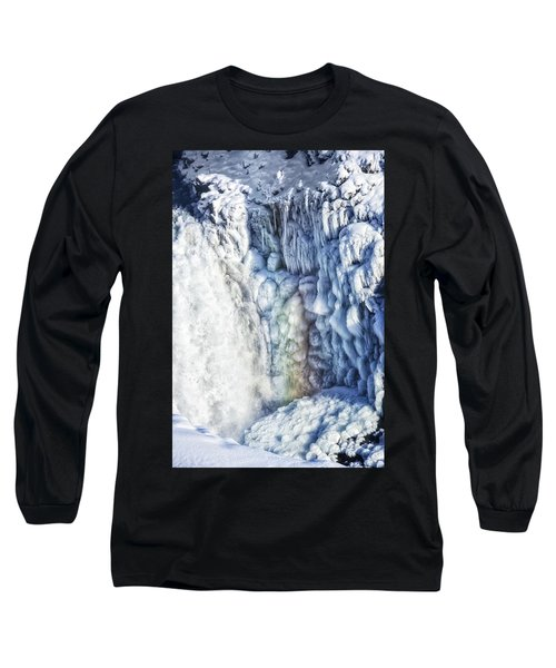 Long Sleeve T-Shirt featuring the photograph Frozen Waterfall Gullfoss Iceland by Matthias Hauser