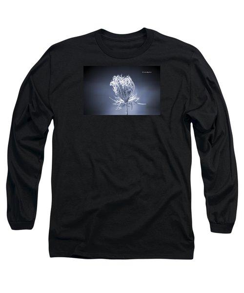 Long Sleeve T-Shirt featuring the photograph Frozen Wildflower by Stwayne Keubrick