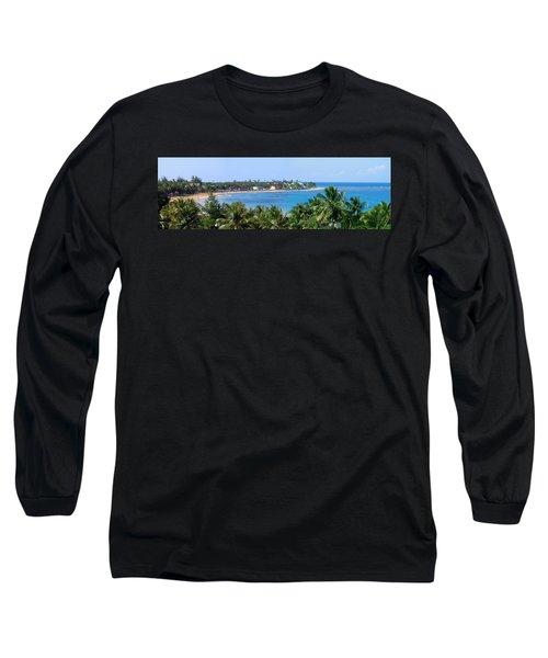 Long Sleeve T-Shirt featuring the photograph Full Beach View by Suhas Tavkar