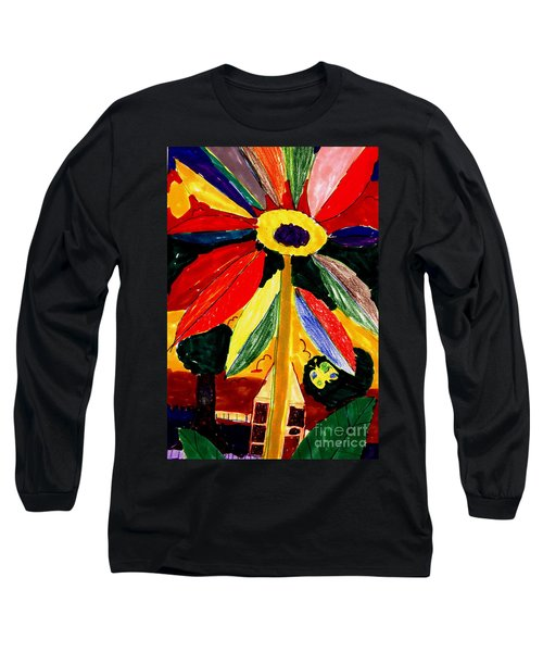 Full Bloom - My Home 2 Long Sleeve T-Shirt by Angela L Walker