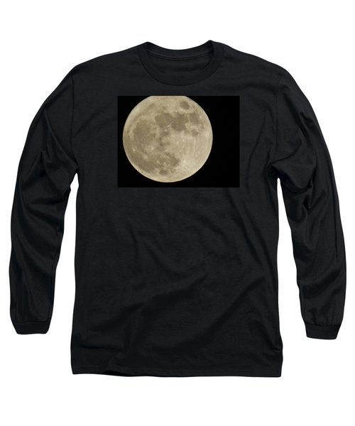 Full Moon 11/25/15 Long Sleeve T-Shirt by Mikki Cucuzzo