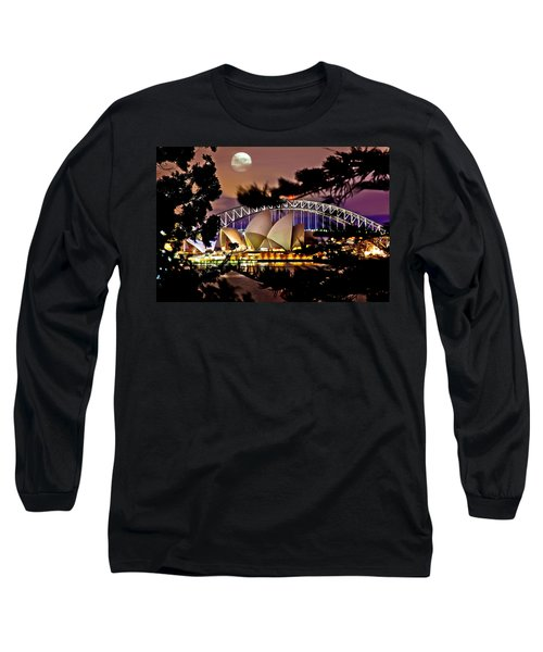 Full Moon Above Long Sleeve T-Shirt