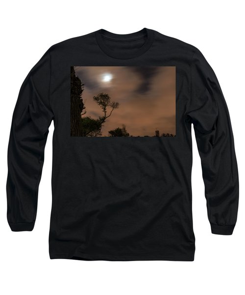 Long Sleeve T-Shirt featuring the photograph Full Moon In The Park by Dubi Roman