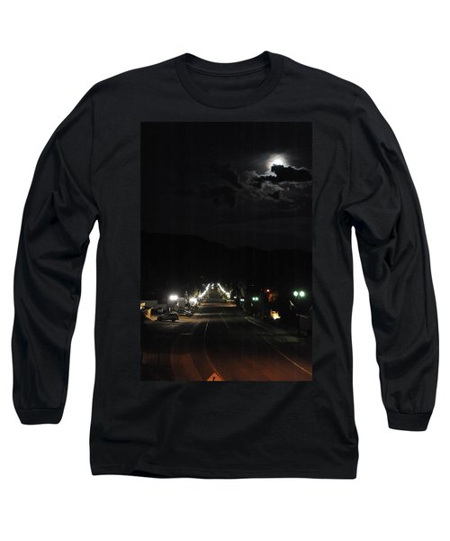 Full Moon Over Red River Long Sleeve T-Shirt