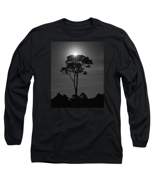 Full Moon Pearl  On Old Longleaf Pine Setting Long Sleeve T-Shirt