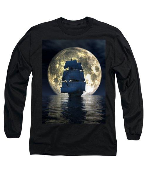 Full Moon Pirates Long Sleeve T-Shirt