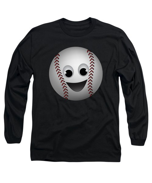 Fun Baseball Character Long Sleeve T-Shirt by MM Anderson