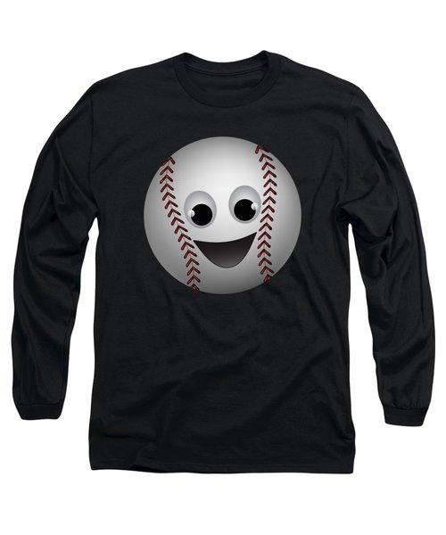 Fun Baseball Character Long Sleeve T-Shirt