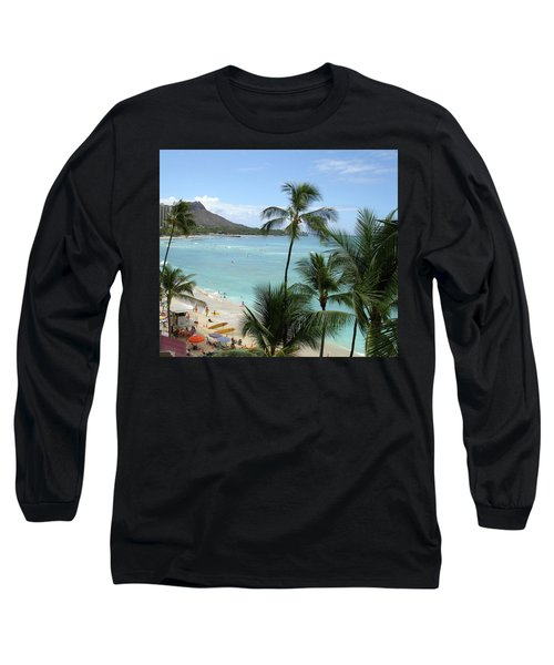Fun Times On The Beach In Waikiki Long Sleeve T-Shirt