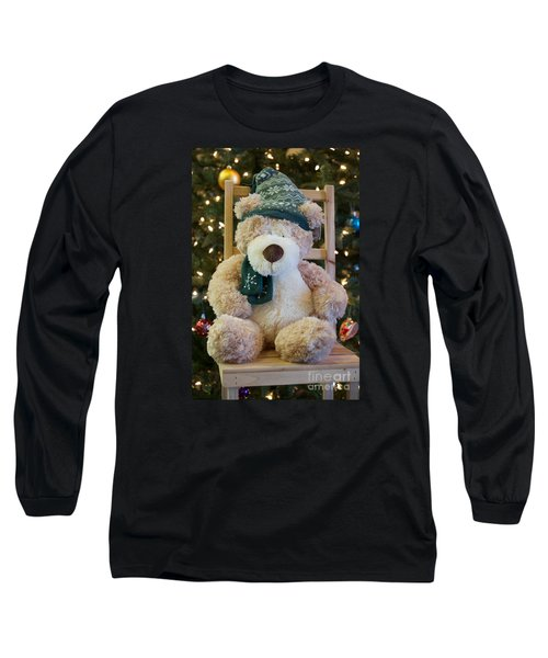 Fuzzy Bear Long Sleeve T-Shirt by Vinnie Oakes