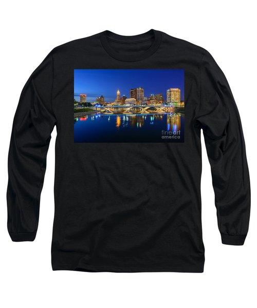 Fx2l531 Columbus Ohio Skyline Photo Long Sleeve T-Shirt