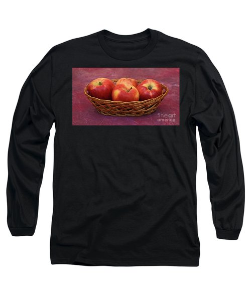 Gala Apple Basket Long Sleeve T-Shirt by Ray Shrewsberry