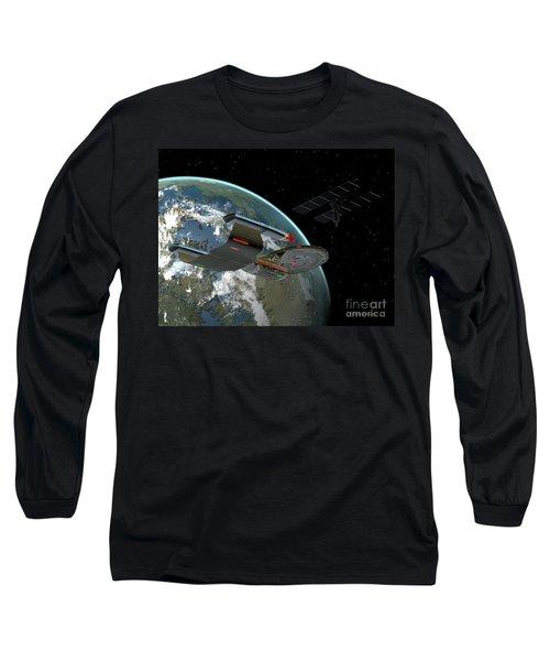 Galaxy Class Star Cruiser Long Sleeve T-Shirt