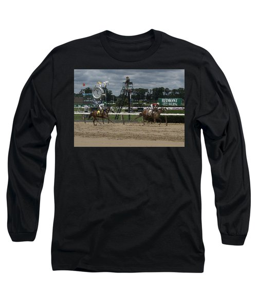 Long Sleeve T-Shirt featuring the digital art Galloping Out Painting by  Newwwman