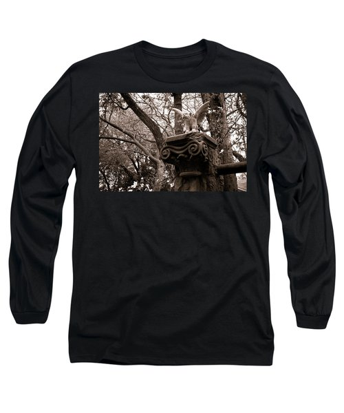 Garden Gargoyle  Long Sleeve T-Shirt by Toni Hopper