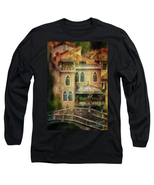 Long Sleeve T-Shirt featuring the digital art Gardening Venice Style by Lois Bryan