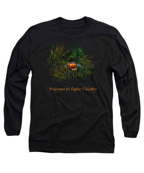 Gator Country  Long Sleeve T-Shirt by Mark Andrew Thomas