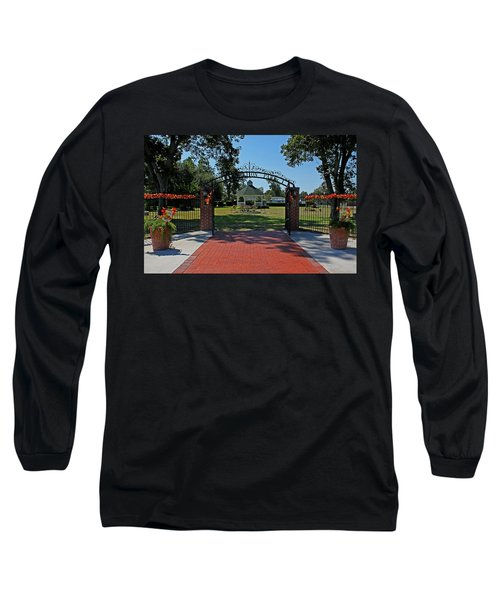 Long Sleeve T-Shirt featuring the photograph Gazebo At Celebration Park by Judy Vincent