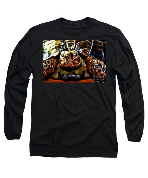 Gazing Turtle Long Sleeve T-Shirt by Mariola Bitner