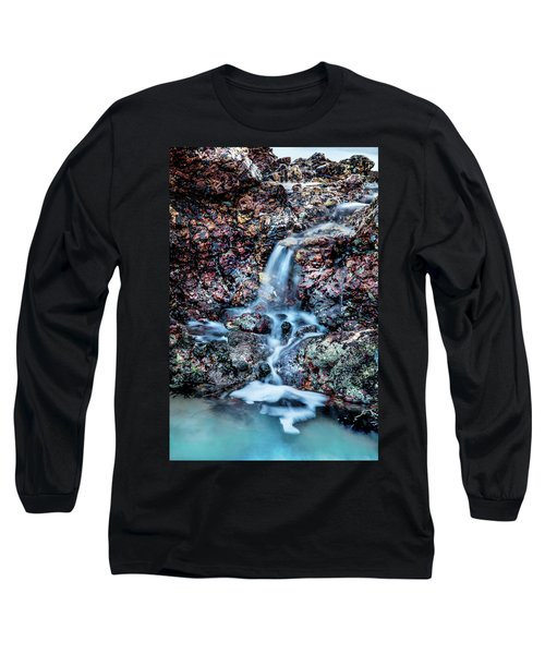 Long Sleeve T-Shirt featuring the photograph Gemstone Falls by Az Jackson