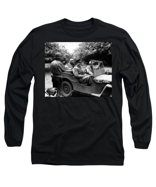 General Eisenhower In A Jeep Long Sleeve T-Shirt