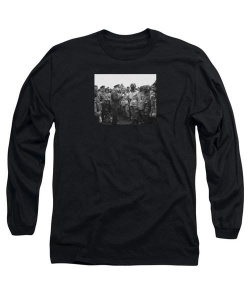 General Eisenhower On D-day  Long Sleeve T-Shirt by War Is Hell Store