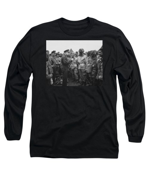 General Eisenhower On D-day  Long Sleeve T-Shirt