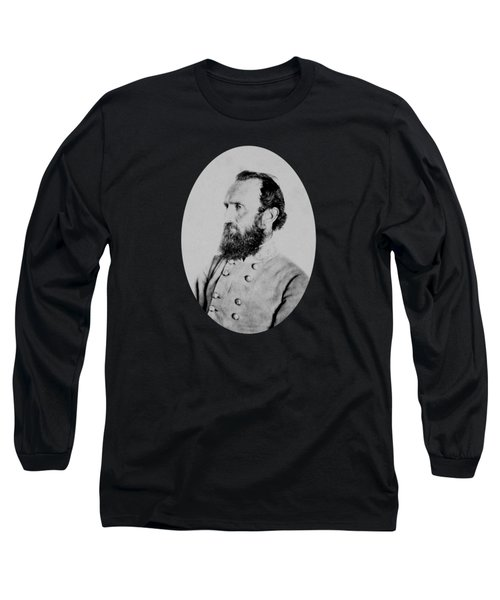Long Sleeve T-Shirt featuring the photograph General Thomas Stonewall Jackson by War Is Hell Store