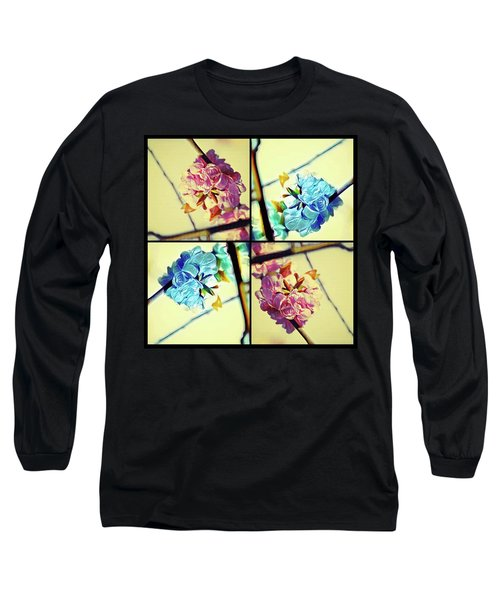 Geometric Blossoms Long Sleeve T-Shirt
