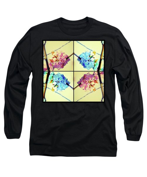 Geometric Cherry Blossoms Long Sleeve T-Shirt