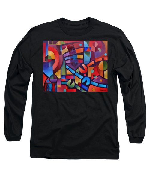 Geometric Music Long Sleeve T-Shirt